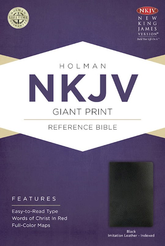 NKJV Giant Print Reference Bible-Black Imitation Leather Indexed (Not Available-Out Of Print) | SHOPtheWORD