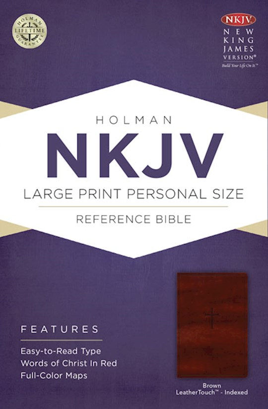 NKJV Large Print Personal Size Reference Bible-Brown LeatherTouch Indexed   SHOPtheWORD