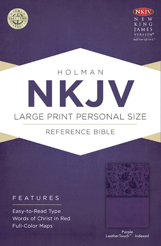 NKJV Large Print Personal Size Reference Bible-Purple LeatherTouch Indexed | SHOPtheWORD