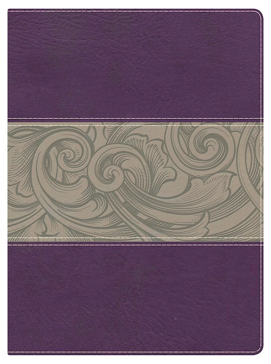 NKJV Holman Study Bible (Full Color)-Eggplant/Tan LeatherTouch | SHOPtheWORD