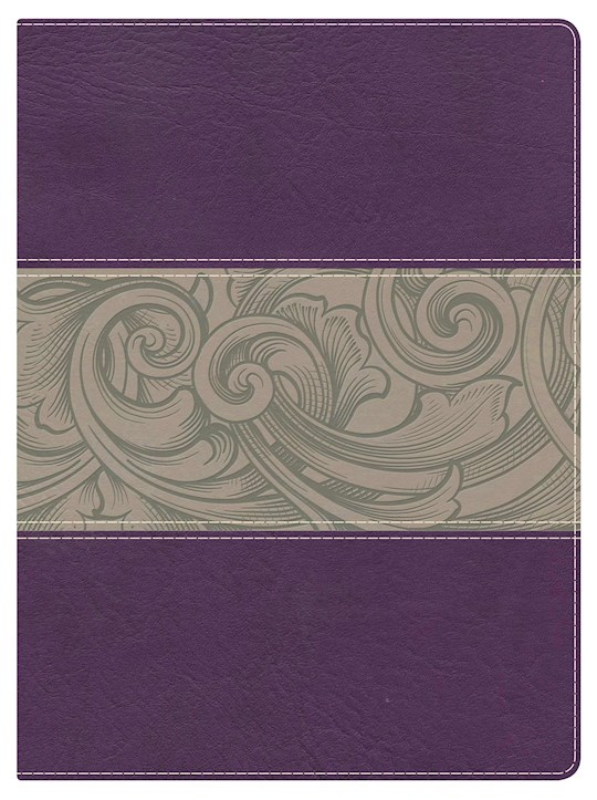 NKJV Holman Study Bible (Full Color)-Eggplant/Tan LeatherTouch Indexed | SHOPtheWORD