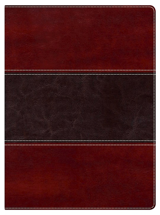 NKJV Holman Study Bible (Full Color)-Mahogany LeatherTouch | SHOPtheWORD