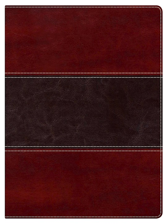 NKJV Holman Study Bible (Full Color)-Mahogany LeatherTouch Indexed | SHOPtheWORD