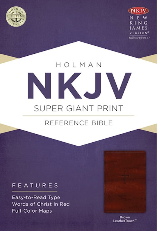 NKJV Super Giant Print Reference Bible-Brown LeatherTouch | SHOPtheWORD