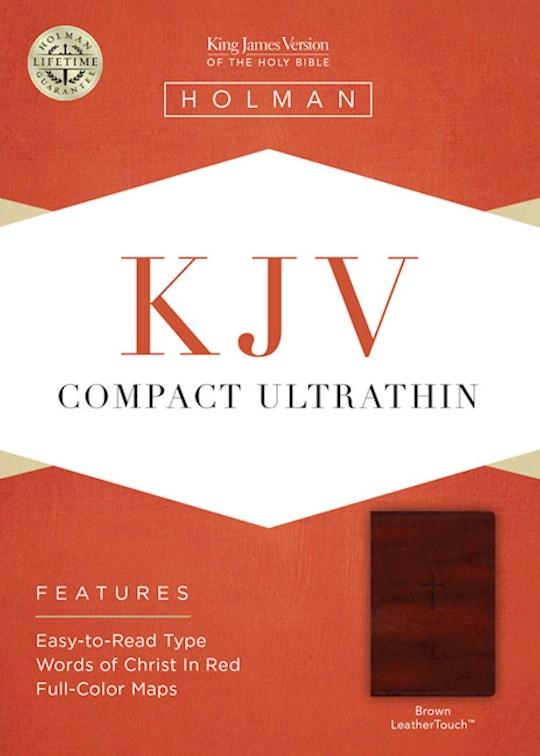 KJV Compact Ultrathin Bible-Brown LeatherTouch | SHOPtheWORD