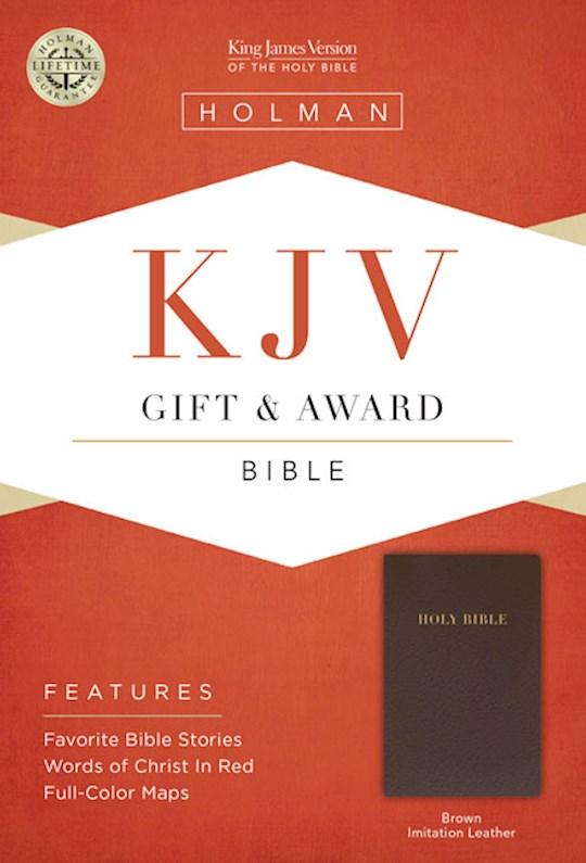KJV Gift & Award Bible-Dark Brown Imitation Leather | SHOPtheWORD