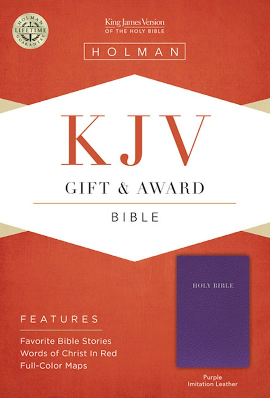 KJV Gift & Award Bible-Purple Imitation Leather | SHOPtheWORD