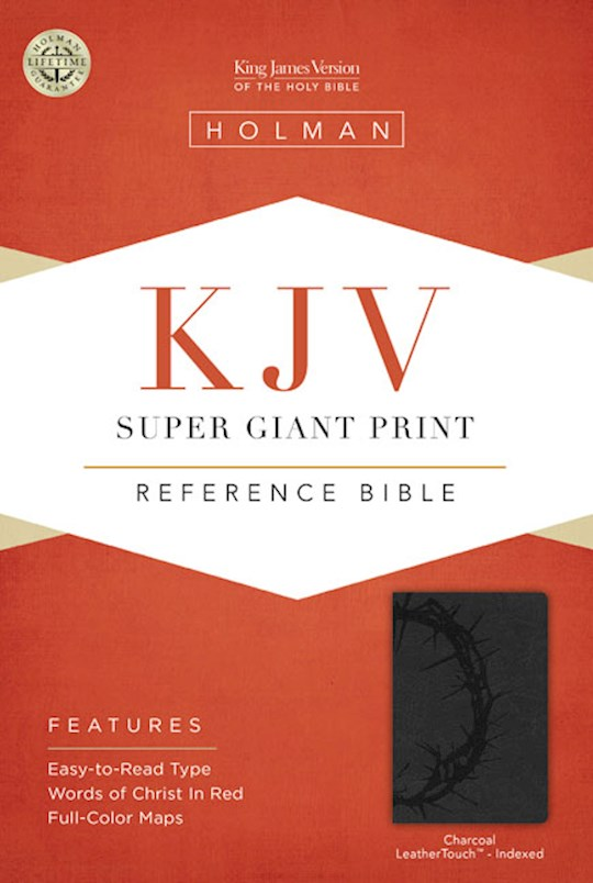 KJV Super Giant Print Reference Bible-Charcoal LeatherTouch Indexed   SHOPtheWORD