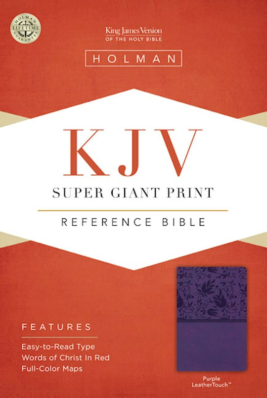 KJV Super Giant Print Reference Bible-Purple LeatherTouch | SHOPtheWORD