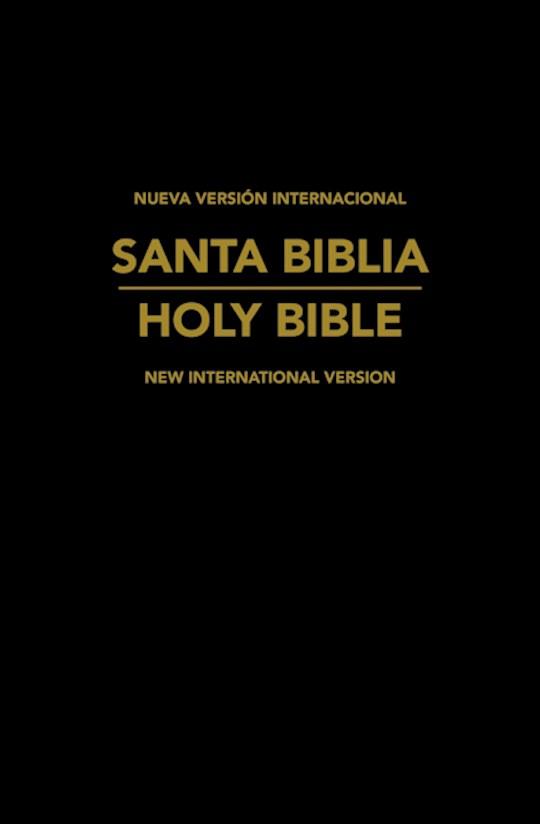 NVI/NIV Spanish-English Bilingual Bible (NVI/NIV Biblia Bilingue)-Black Imitation Leather | SHOPtheWORD