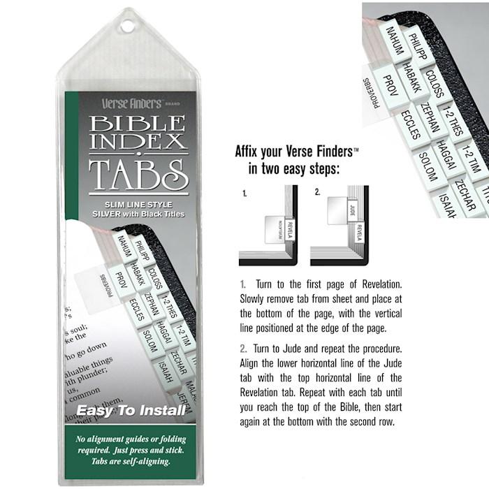 Bible Tab-Verse Finders-Slim Line-Silver   SHOPtheWORD