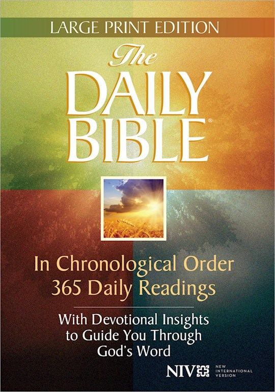 NIV Daily Bible In Chronological Order Large Print-Hardcover | SHOPtheWORD
