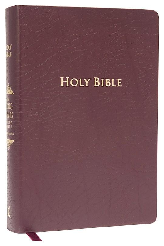 KJV King James Study Bible (Second Edition)-Burgundy Bonded Leather | SHOPtheWORD