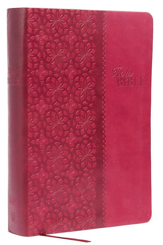 KJV King James Study Bible (Second Edition)-Cranberry LeatherSoft | SHOPtheWORD