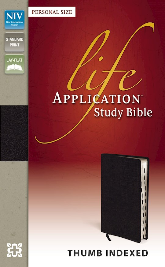 NIV Life Application Study Bible/Personal Size-Black Bonded Leather Indexed   SHOPtheWORD