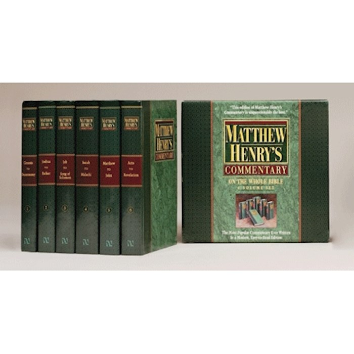 Matthew Henry's Commentary On The Whole Bible (6 Volumes) by Matthew Henry | SHOPtheWORD