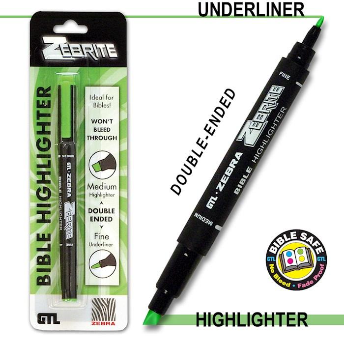 Highlighter-Zebrite Carded-Green (Bx/6)   SHOPtheWORD