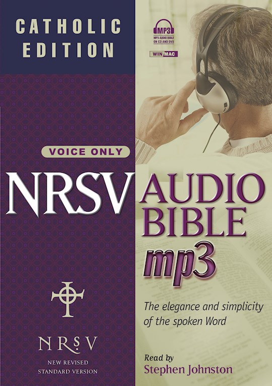 Audio CD-NRSV Complete Bible On MP3: Catholic Edition (Voice Only) (DVD + 4 CD) | SHOPtheWORD