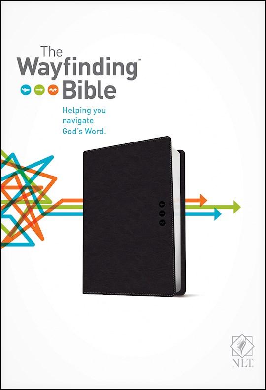 NLT Wayfinding Bible-Slate LeatherLike | SHOPtheWORD