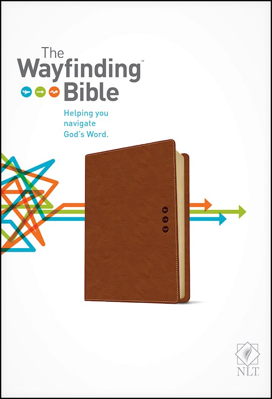 NLT Wayfinding Bible-Brown LeatherLike | SHOPtheWORD