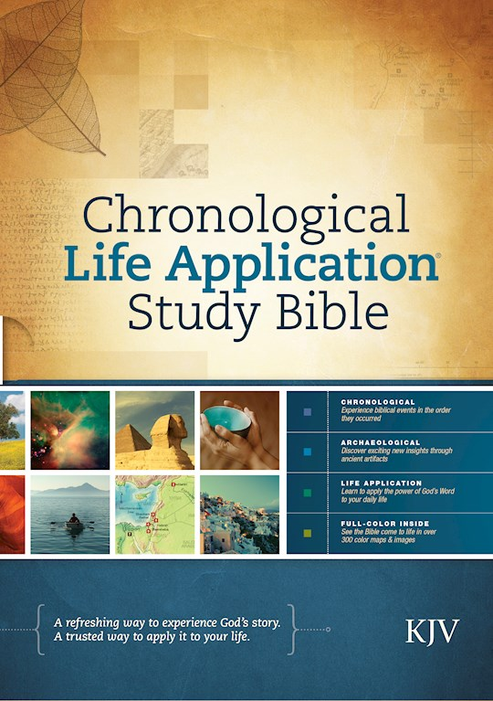 KJV Chronological Life Application Study Bible-Hardcover | SHOPtheWORD