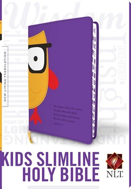 NLT Kids Slimline Bible-Purple LeatherLike | SHOPtheWORD