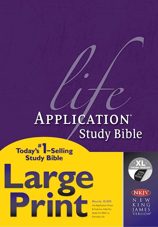 NKJV Life Application Study Bible/Large Print-Hardcover Indexed | SHOPtheWORD