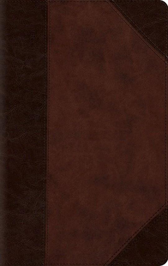 ESV Large Print Compact Bible-Brown/Walnut Portfolio Design TruTone | SHOPtheWORD