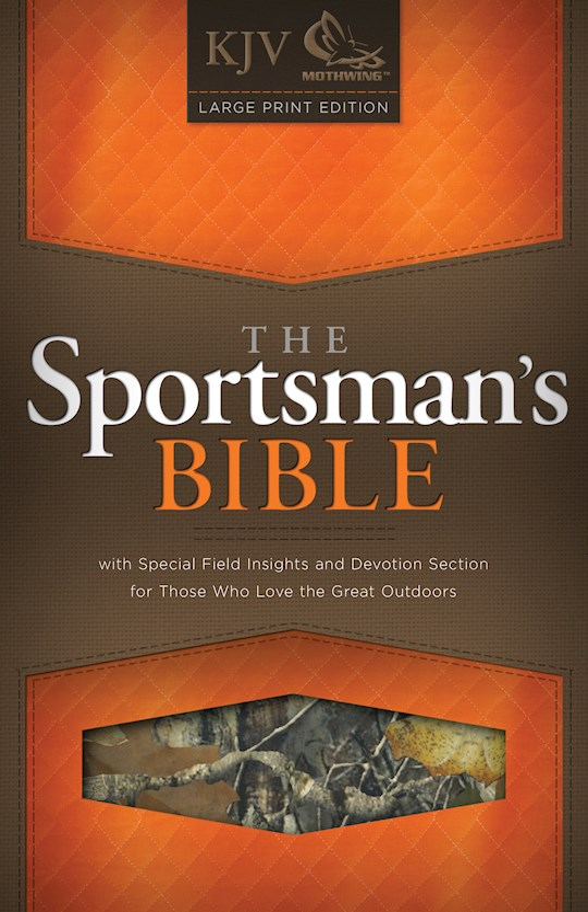 KJV Sportsman's Bible-Large Print-Mothwing Camouflage Bonded Leather   SHOPtheWORD