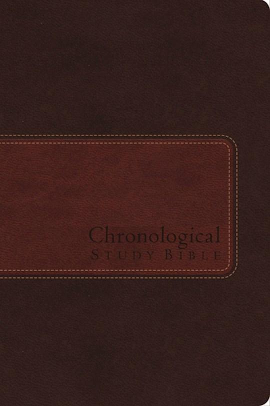 NIV Chronological Study Bible-Earth Brown/Auburn Leathersoft | SHOPtheWORD