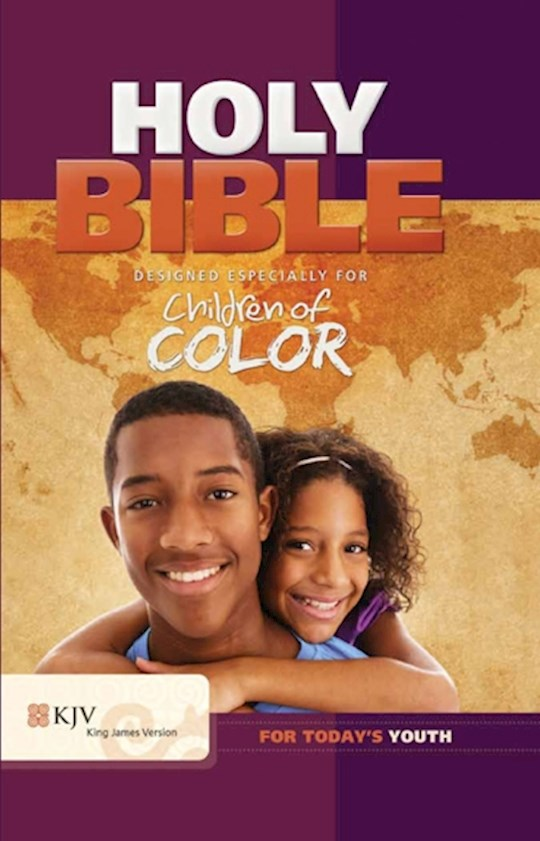 KJV Children Of Color Bible-Purple Imitation Leather | SHOPtheWORD