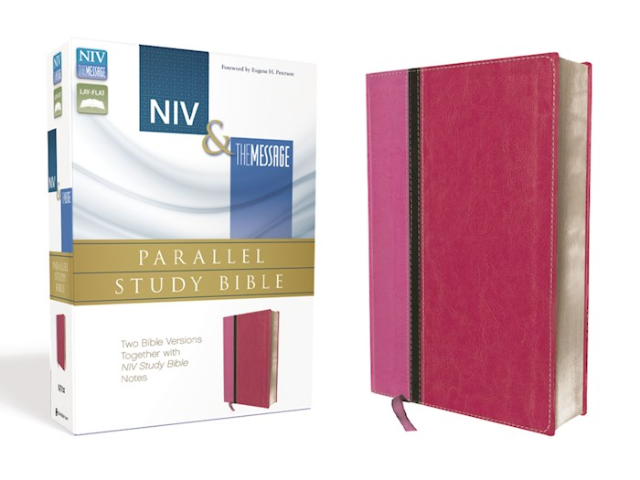 NIV & Message Parallel Study Bible-Orchid/Raspberry Duo-Tone | SHOPtheWORD