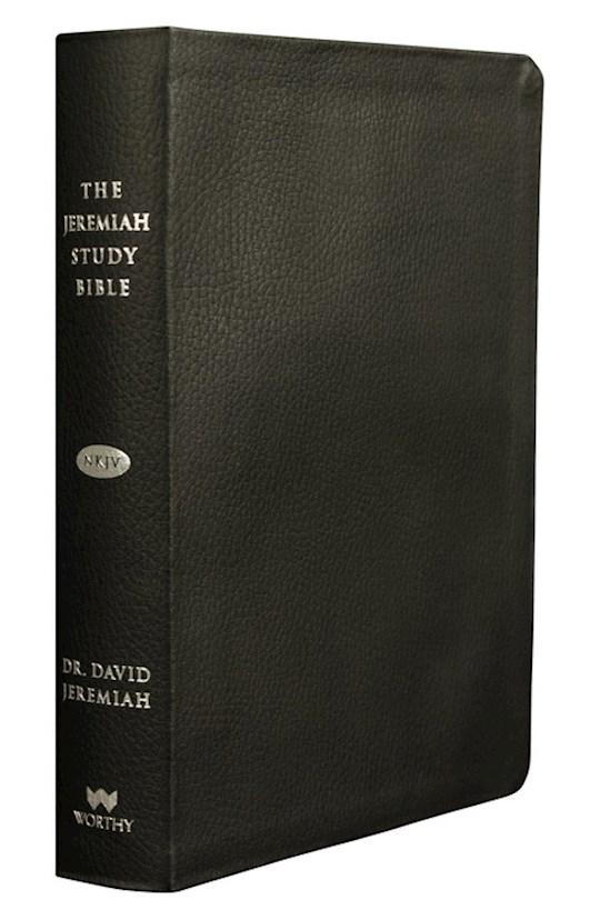 NKJV Jeremiah Study Bible-Black Genuine Leather Indexed  | SHOPtheWORD