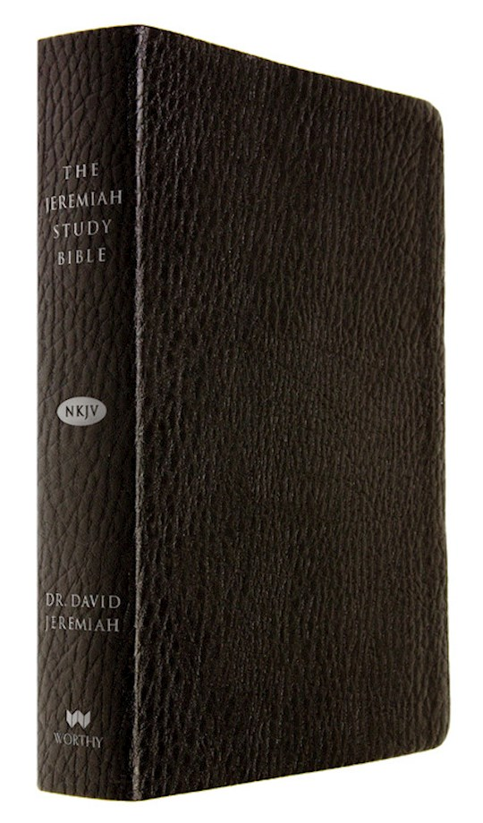 NKJV Jeremiah Study Bible-Black Leatherluxe  | SHOPtheWORD