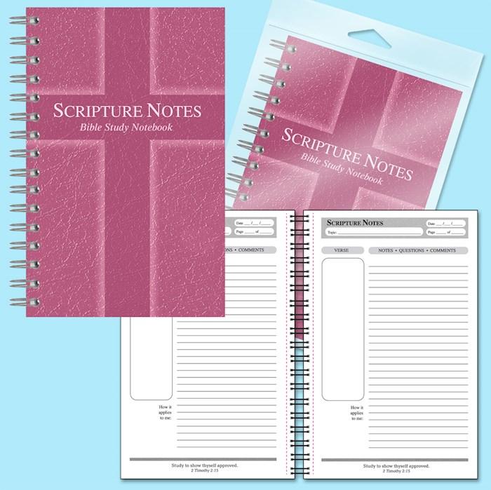 Notebook-Scripture Notes Bible Study-Cross-Rose | SHOPtheWORD