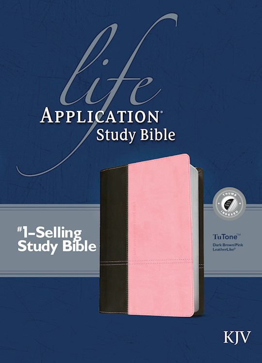 KJV Life Application Study Bible-Dark Brown/Pink TuTone Indexed | SHOPtheWORD