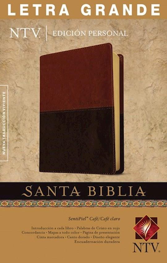 Span-NTV Personal Size Large Print Bible (Edicion Personal Letra Grande)-Brown/Tan TuTone | SHOPtheWORD