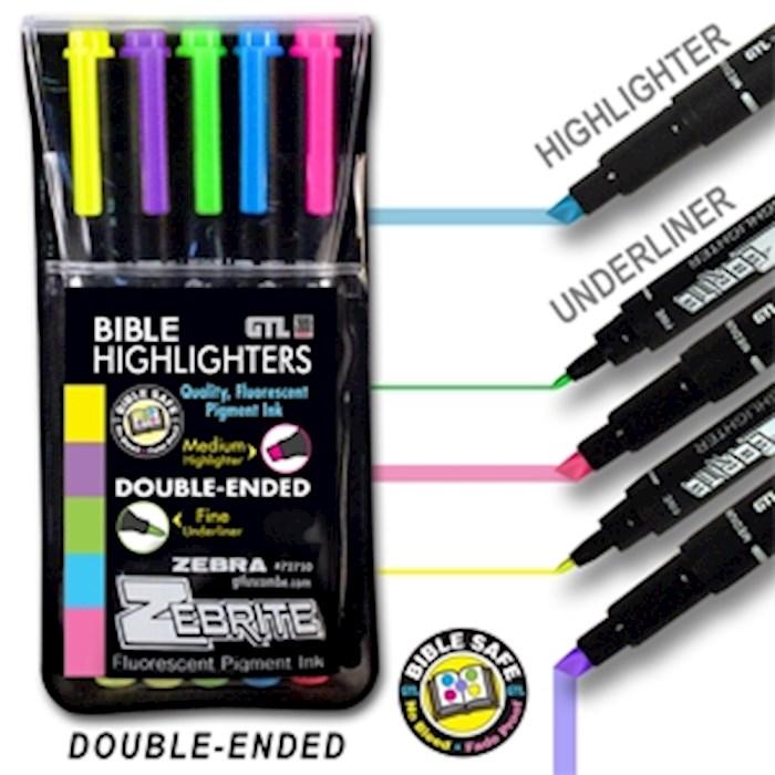 Highlighter-Zebrite Carded (Set Of 5)  | SHOPtheWORD