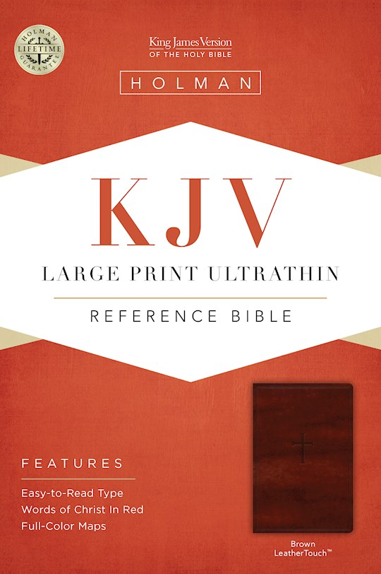 KJV Large Print Ultrathin Reference Bible-Brown LeatherTouch | SHOPtheWORD