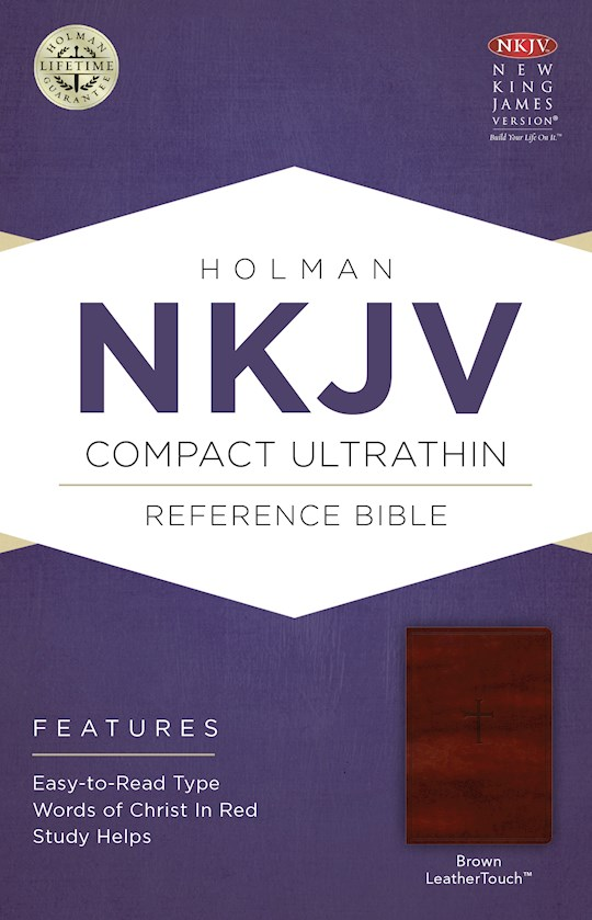 NKJV Compact Ultrathin Reference-Brown LeatherTouch | SHOPtheWORD