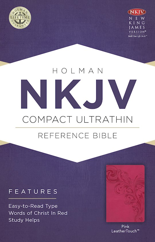 NKJV Compact Ultrathin Reference-Pink LeatherTouch | SHOPtheWORD