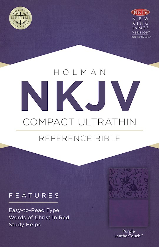 NKJV Compact Ultrathin Reference-Purple LeatherTouch | SHOPtheWORD