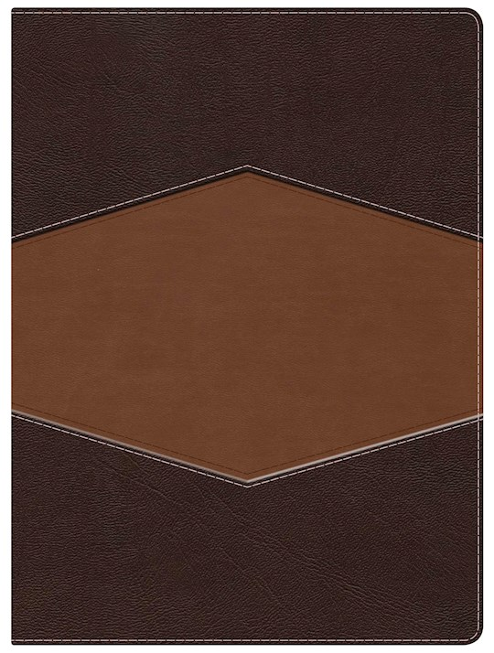 Span-RVR 1960 Holman Study Bible (Full Color)-Sienna/Sand LeatherTouch | SHOPtheWORD