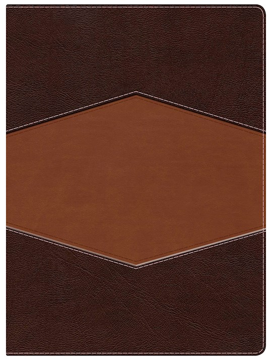 Span-RVR 1960 Holman Study Bible (Full Color)-Sienna/Sand LeatherTouch Indexed   SHOPtheWORD