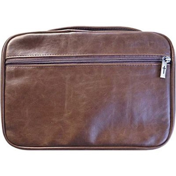 Bible Cover-Distressed Leather Look-XX Large-Brown    SHOPtheWORD