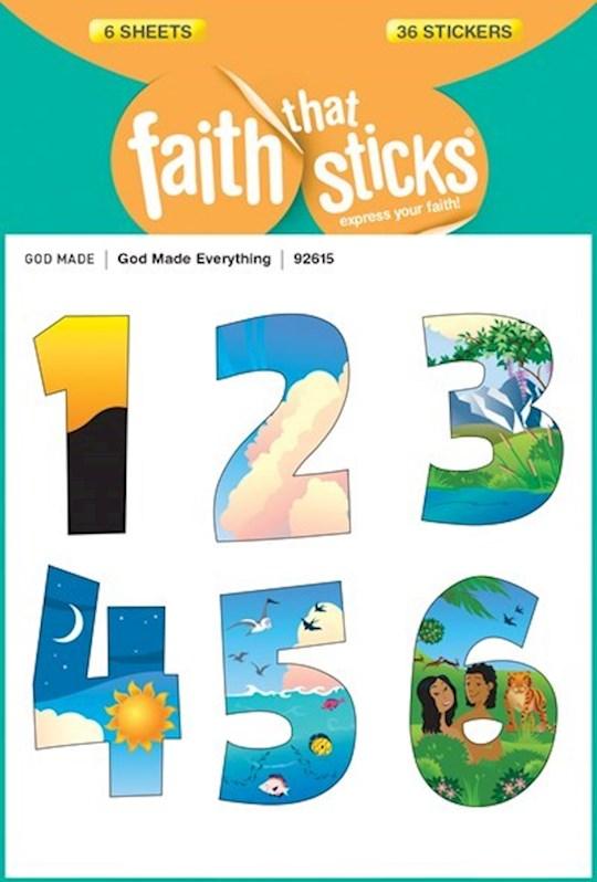 Sticker-God Made Everything (6 Sheets) (Faith That Sticks)   SHOPtheWORD