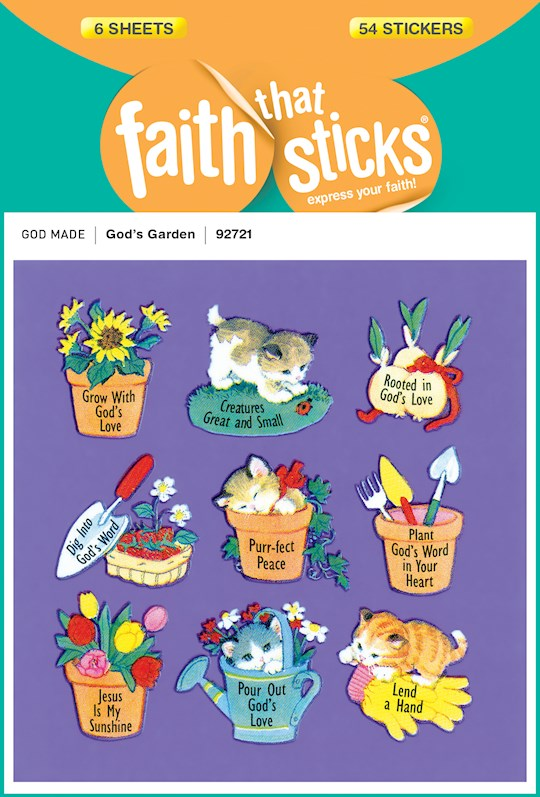 Sticker-God's Garden (6 Sheets) (Faith That Sticks) | SHOPtheWORD