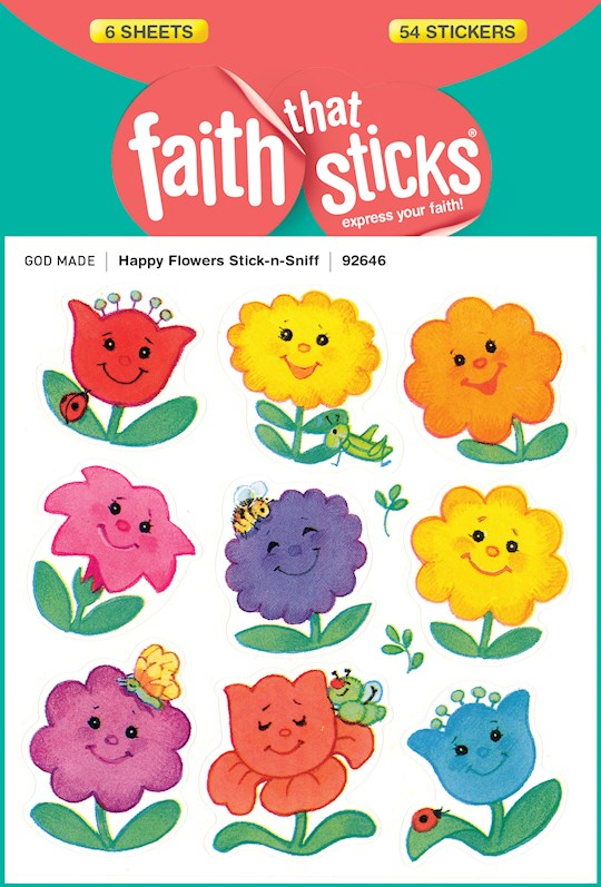 Sticker-Happy Flowers/Stick-N-Sniff (6 Sheets) (Faith That Sticks) | SHOPtheWORD