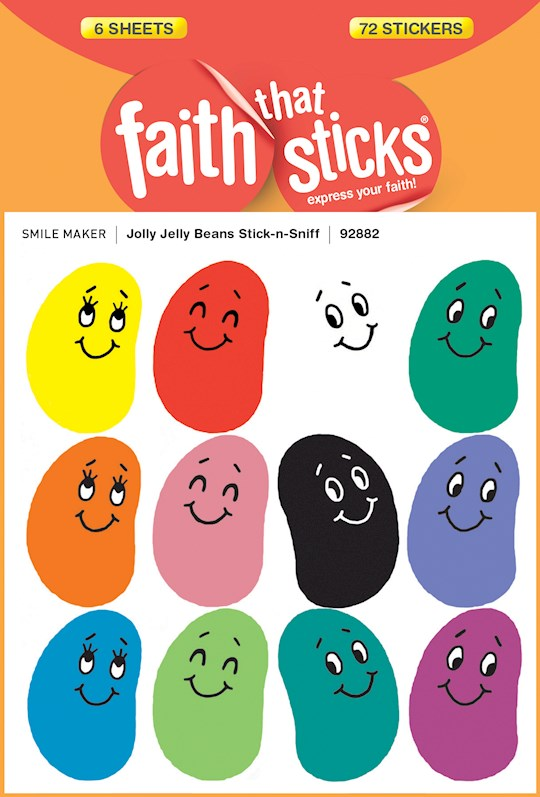 Sticker-Jolly Jelly Beans/Stick-N-Sniff (6 Sheets) (Faith That Sticks) | SHOPtheWORD