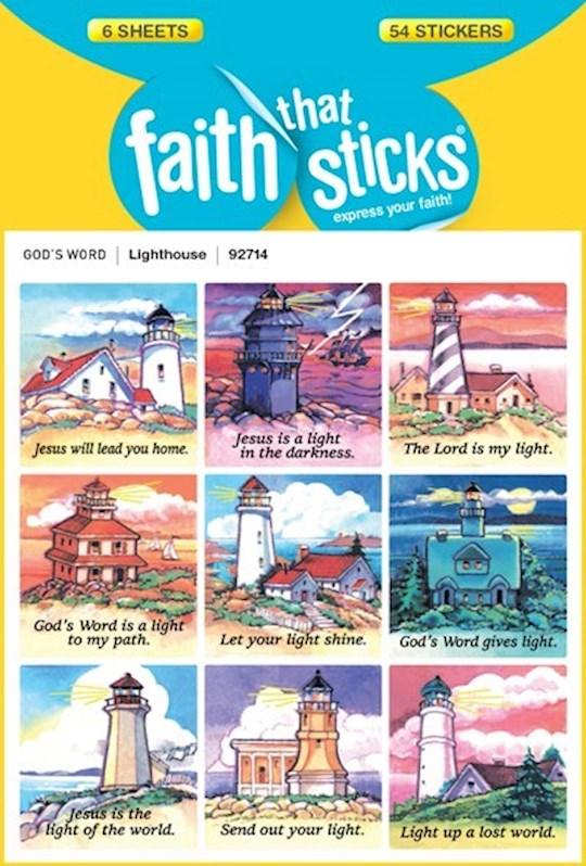 Sticker-Lighthouse (6 Sheets) (Faith That Sticks) | SHOPtheWORD